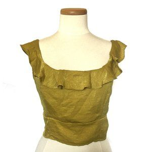 Cotton:On Gold Crop Top L